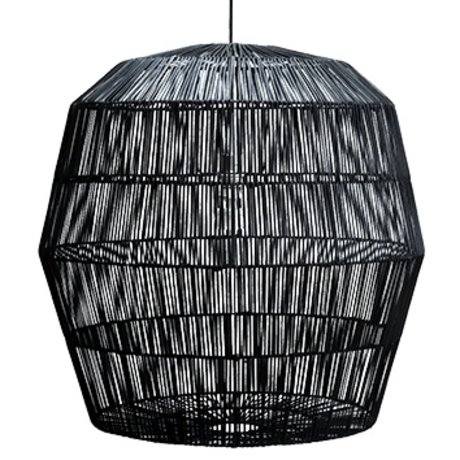 Ay Illuminate Suspension Nama cinq noir rotin ø78x78cm