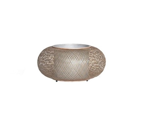 Ay Illuminate Table Lamp Twiggy natural brown bamboo Ø40x19cm