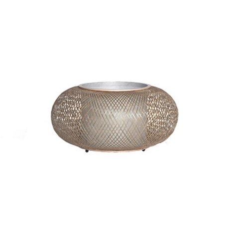 Ay Illuminate Tafellamp Twiggy naturel bruin bamboe Ø40x19cm
