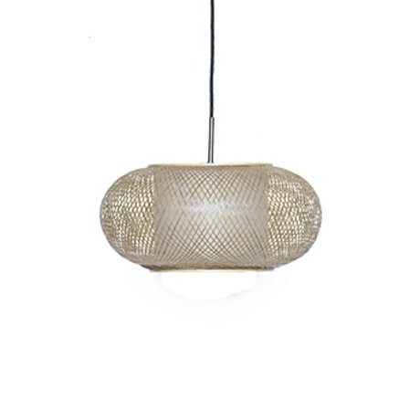 Ay Illuminate lampe suspension Shade Twiggy G naturelle Ø40x19cm de bambou brun