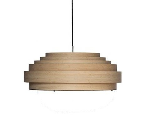 Ay Illuminate Hanglamp Thin large naturel bruin bamboe Ø70x25cm
