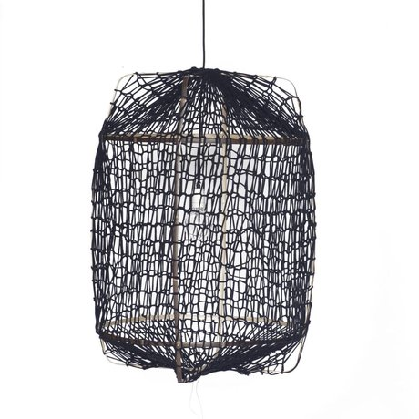 Ay Illuminate Hanging lamp Z1 black bamboo ø67x100cm