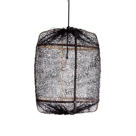 Ay Illuminate Suspension Z5 naturelle ø42x57cm de bambou noir