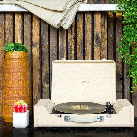 Crosley Radio Crosley Nomad tragbaren Plattenspieler Holz braun 61x14x33cm