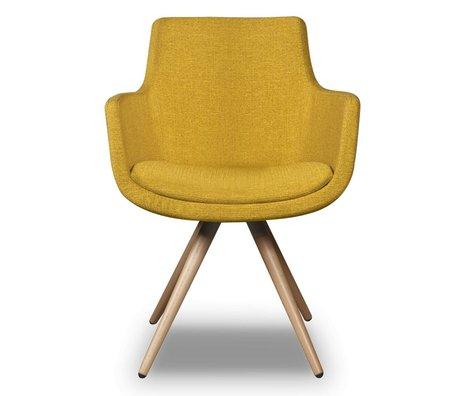 I-Sofa Eetkamerstoel Espen geel textiel 59x59x83cm