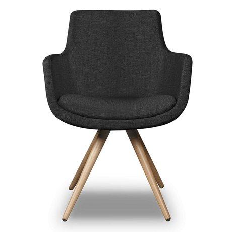 I-Sofa Dining Chair Espen schwarzes Textil 59x59x83cm
