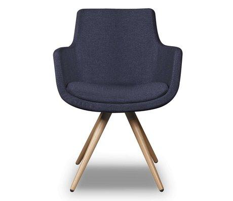 I-Sofa Eetkamerstoel Espen blauw textiel 59x59x83cm
