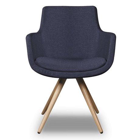 I-Sofa Dining Chair Espen blue textile 59x59x83cm