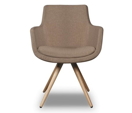 I-Sofa Dining Chair Espen beige braun Textil 59x59x83cm