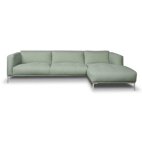 I-Sofa Encoignures Oliver menthe textile vert 296x85x74cm