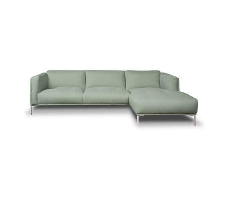 I-Sofa Hoekbank Oliver mintgroen textiel 251x85x74cm