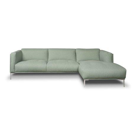 I-Sofa Corner sofas Oliver mint green textile 251x85x74cm