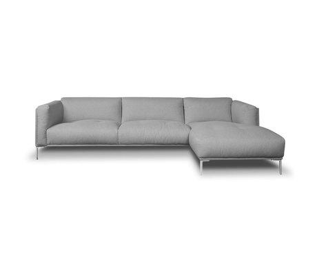 I-Sofa Coin Canapés Oliver textile gris 296x85x74cm