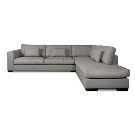 I-Sofa Corner sofas Harpo gray textile 300x225x80cm