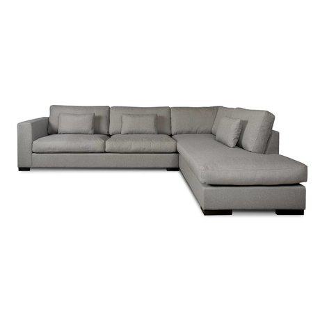 I-Sofa Ecksofas Harpo grau Textil 300x225x80cm