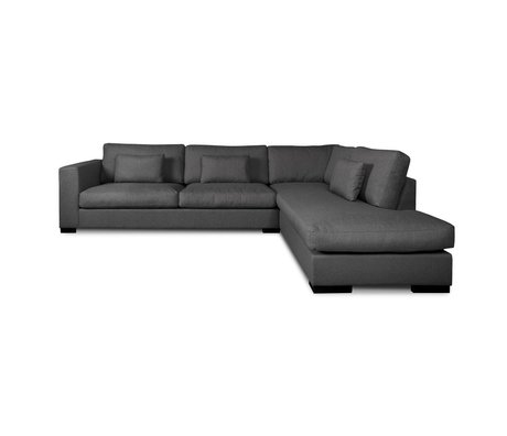 I-Sofa Coin canapés Harpo gris foncé textile 300x225x80cm
