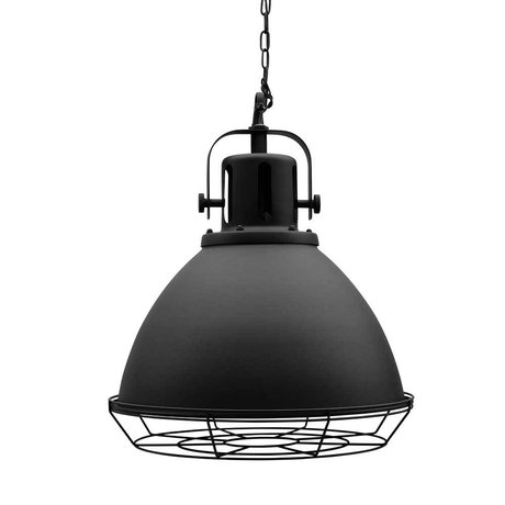 LEF collections Spot black metal pendant lamp 47x47x45cm