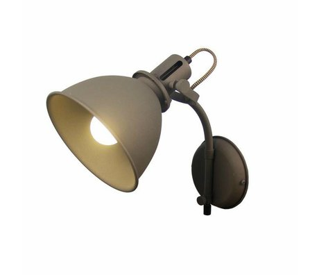 LEF collections Wall lamp Spot gray metal 17x30x41cm