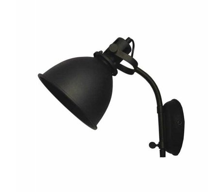 LEF collections Wall lamp Spot black metal 17x30x41cm