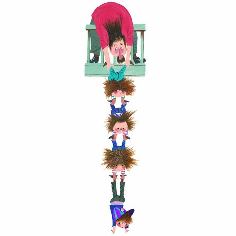 KEK Amsterdam Muursticker Fiep Westendorp Hang on XL multicolor 37x140cm