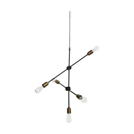 Housedoctor lampe suspendue moléculaire or noir 78x68cm métallique