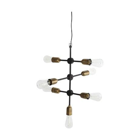 Housedoctor lampe suspendue moléculaire or noir 58x48cm métallique