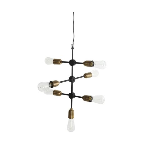 Housedoctor Molecular hanging lamp black gold metal 58x48cm