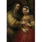 Arty Shock Jewish Bride Rembrandt painting XL multicolor plexiglass 150x225cm
