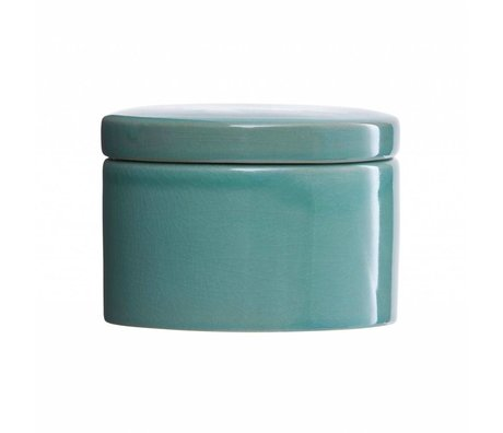 Housedoctor Storage Tray Croz green pottery Ø14x10cm