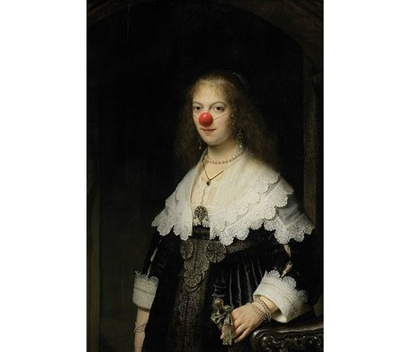 Arty Shock Rembrandt painting About Mary Clown XL multicolor plexiglass 150x225cm