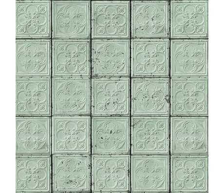 NLXL-Merci Tile wallpaper Brooklyn Mint Tins Tin-05