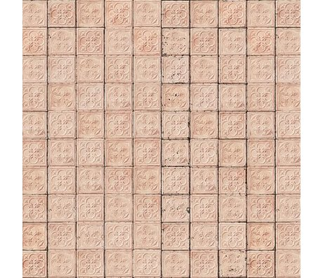 NLXL-Merci Tile Boîtes en étain papier peint rose Brooklyn-06
