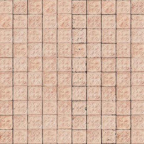 NLXL-Merci Tile wallpaper Brooklyn Tins soft pink Tin-06