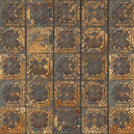 NLXL-Merci Tile Boîtes papier peint Brooklyn or métallique Tin-08