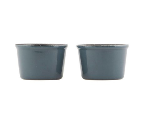 Nicolas Vahe Ramekin dish dark gray ceramic ø8,7x5,8cm (set of 4)
