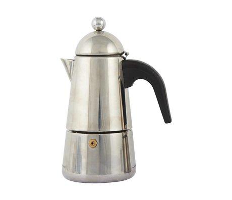 Nicolas Vahe Espresso Koffiezetapparaat Moka grijs roestvrijstaal ø13,2x8,5x19,2cm