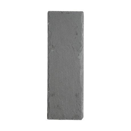 Nicolas Vahe ardoise Blackboard 30x10x0,8cm gris (set of 6)
