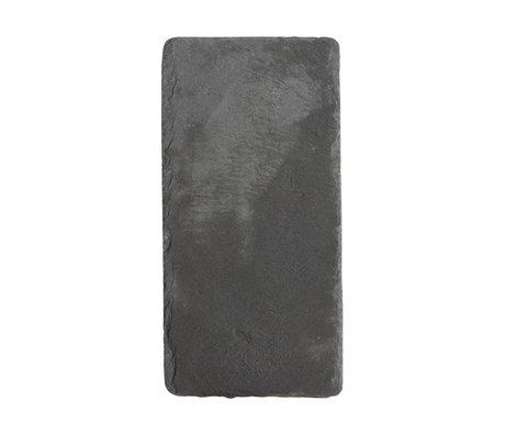 Nicolas Vahe ardoise Blackboard 20x12x0,8cm gris (set of 6)