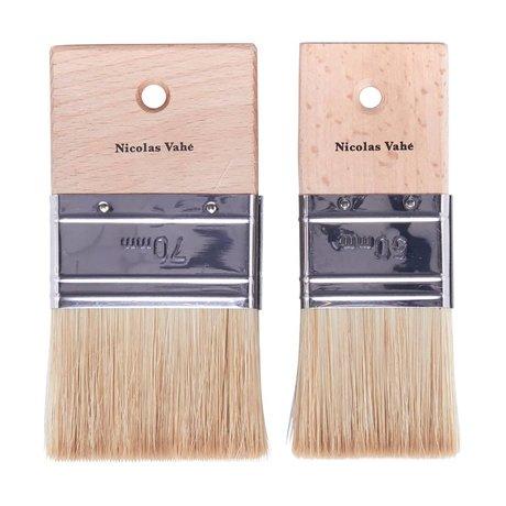 Nicolas Vahe Cuisine Brush bois brun fixé à poils