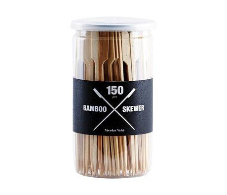 Nicolas Vahe Cocktail Picks set brown wood 15cm