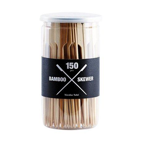 Nicolas Vahe Cocktailprikker set bruin hout 15cm
