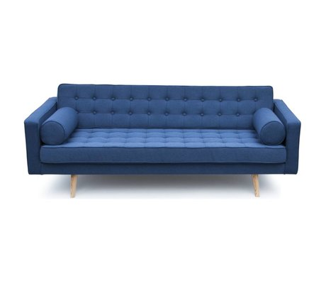 I-Sofa Mailand bank blau Textil-Holz 200x90x73cm