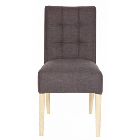 LEF collections Dining chair Tijmen dark gray, warm gray 95X45X66 cm