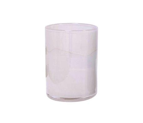 HK-living Hand geblasenem Glas Vase rosa 12x12x17cm