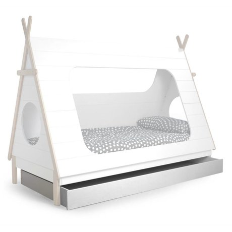 LEF collections Bedlade t.v.b. Tipi bed wit grenen 204,8x95x16cm