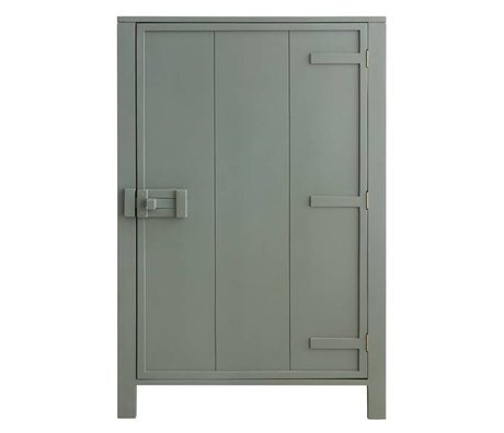 HK-living Cabinet with single door wood army green 81x36x122cm