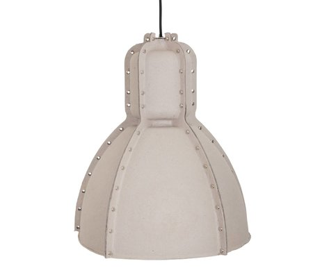 Anne Lighting Hanglamp Pulp fiction grijs bruin karton ø42x49cm