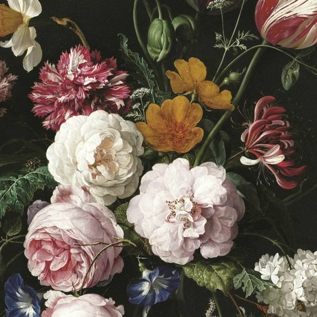 KEK Amsterdam Papier peint intissé Golden Age Flowers III multicolore 389.6x280cm