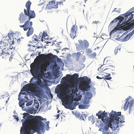 KEK Amsterdam Wallpaper Royal Blue Flowers I multicolor non-woven paper 389.6x280cm
