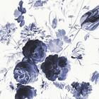 KEK Amsterdam Tapete Royal Blue Flowers II Mehrfarbenpapierbahn 389,6x280cm